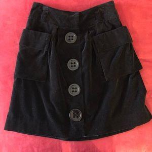 Black Velvet Skirt - Size 6